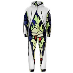 A Colorful Butterfly Image Hooded Jumpsuit (Men)