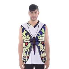 A Colorful Butterfly Image Men s Basketball Tank Top
