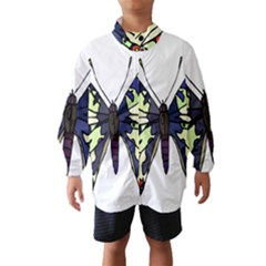 A Colorful Butterfly Image Wind Breaker (kids)
