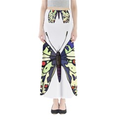 A Colorful Butterfly Image Maxi Skirts