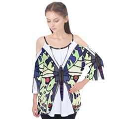 A Colorful Butterfly Image Flutter Tees