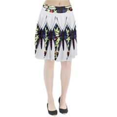 A Colorful Butterfly Image Pleated Skirt