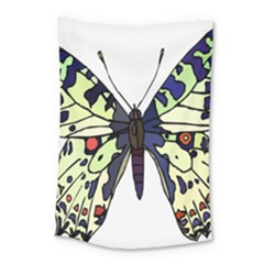 A Colorful Butterfly Image Small Tapestry