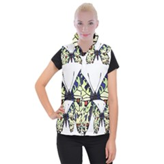 A Colorful Butterfly Image Women s Button Up Puffer Vest