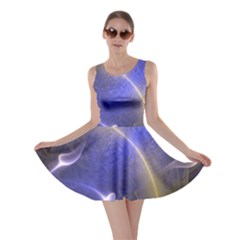 Fractal Magic Flames In 3d Glass Frame Skater Dress