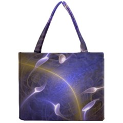 Fractal Magic Flames In 3d Glass Frame Mini Tote Bag
