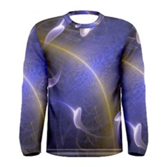 Fractal Magic Flames In 3d Glass Frame Men s Long Sleeve Tee