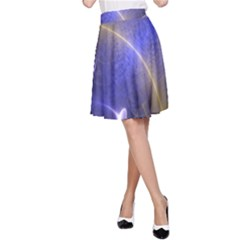 Fractal Magic Flames In 3d Glass Frame A-Line Skirt