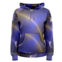 Fractal Magic Flames In 3d Glass Frame Women s Pullover Hoodie