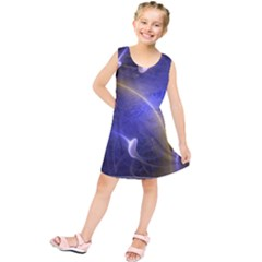 Fractal Magic Flames In 3d Glass Frame Kids  Tunic Dress