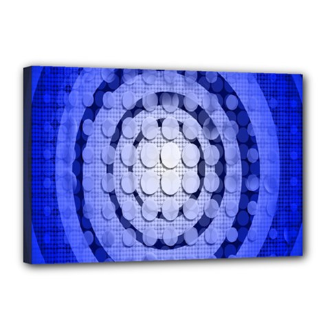 Abstract Background Blue Created With Layers Canvas 18  X 12