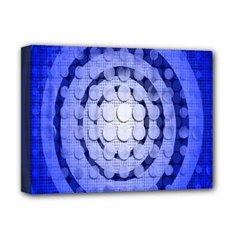 Abstract Background Blue Created With Layers Deluxe Canvas 16  x 12