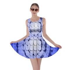 Abstract Background Blue Created With Layers Skater Dress