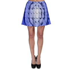Abstract Background Blue Created With Layers Skater Skirt
