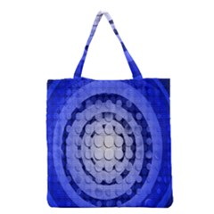 Abstract Background Blue Created With Layers Grocery Tote Bag