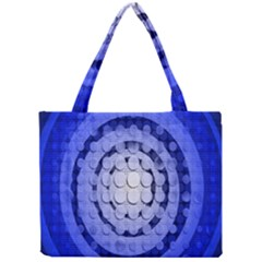 Abstract Background Blue Created With Layers Mini Tote Bag