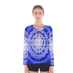 Abstract Background Blue Created With Layers Women s Long Sleeve Tee