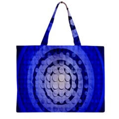 Abstract Background Blue Created With Layers Zipper Mini Tote Bag