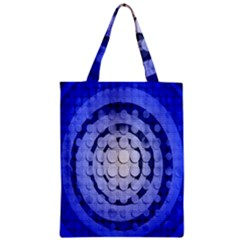 Abstract Background Blue Created With Layers Zipper Classic Tote Bag