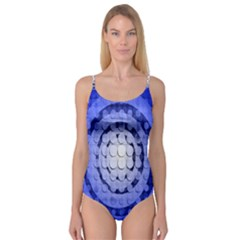 Abstract Background Blue Created With Layers Camisole Leotard