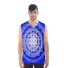Abstract Background Blue Created With Layers Men s Basketball Tank Top