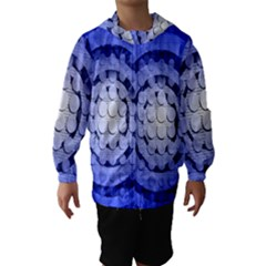 Abstract Background Blue Created With Layers Hooded Wind Breaker (Kids)