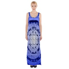 Abstract Background Blue Created With Layers Maxi Thigh Split Dress