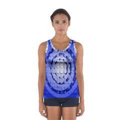 Abstract Background Blue Created With Layers Women s Sport Tank Top