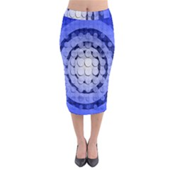 Abstract Background Blue Created With Layers Midi Pencil Skirt