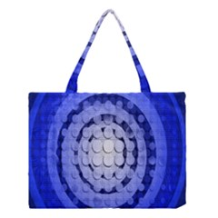 Abstract Background Blue Created With Layers Medium Tote Bag