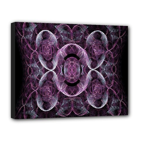 Fractal In Lovely Swirls Of Purple And Blue Canvas 14  X 11