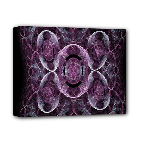 Fractal In Lovely Swirls Of Purple And Blue Deluxe Canvas 14  x 11