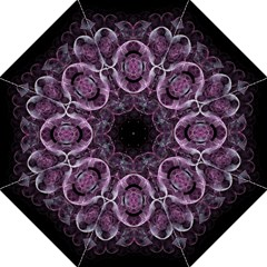 Fractal In Lovely Swirls Of Purple And Blue Hook Handle Umbrellas (Large)