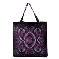 Fractal In Lovely Swirls Of Purple And Blue Grocery Tote Bag