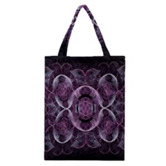 Fractal In Lovely Swirls Of Purple And Blue Classic Tote Bag
