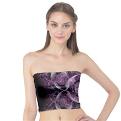 Fractal In Lovely Swirls Of Purple And Blue Tube Top