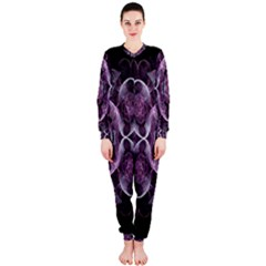 Fractal In Lovely Swirls Of Purple And Blue OnePiece Jumpsuit (Ladies)