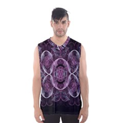 Fractal In Lovely Swirls Of Purple And Blue Men s Basketball Tank Top