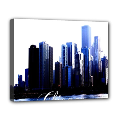 Abstract Of Downtown Chicago Effects Deluxe Canvas 20  x 16