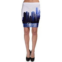 Abstract Of Downtown Chicago Effects Bodycon Skirt