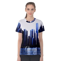 Abstract Of Downtown Chicago Effects Women s Cotton Tee