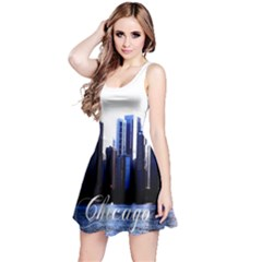 Abstract Of Downtown Chicago Effects Reversible Sleeveless Dress