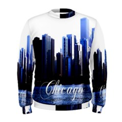 Abstract Of Downtown Chicago Effects Men s Sweatshirt