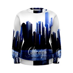 Abstract Of Downtown Chicago Effects Women s Sweatshirt