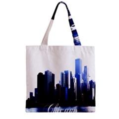 Abstract Of Downtown Chicago Effects Zipper Grocery Tote Bag