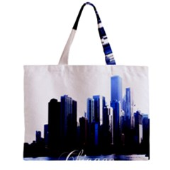 Abstract Of Downtown Chicago Effects Zipper Mini Tote Bag