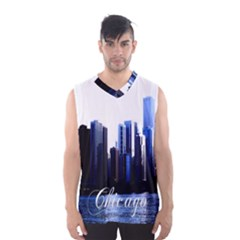 Abstract Of Downtown Chicago Effects Men s Basketball Tank Top