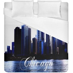 Abstract Of Downtown Chicago Effects Duvet Cover Double Side (king Size)