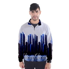 Abstract Of Downtown Chicago Effects Wind Breaker (men)