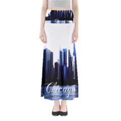 Abstract Of Downtown Chicago Effects Maxi Skirts